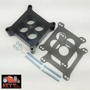 2 Ported Center Phenolic Carburetor Spacer Chevy Ford Holley Carter Demon 350