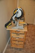 Dewalt 12-in Compound Bevel Corded Miter Saw, Roller Table And Free Stand