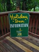 Vintage Holiday Inn The Nations Inkeeper Double Sided Metal Advertising Sign