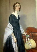 40 Off British Pastel Charles S Le Bailly 'girl In Profile' 1845, 13.5 X 11