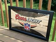 Coors Light Nfl Official Beer Sponsor Glass Large Mirror Football Man Cave Decor