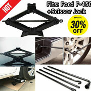 For Ford F150 2004-2014 Spare Tire Tool Kit Lug Wrench Set W/ 2 Ton Scissor Jack