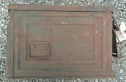 Vintage Us Army Ww2 Wwii Reeves 30 Cal. Metal Ammo Can Rusty
