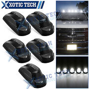 Smoked Lens 6000k White Led Cab Roof Clearance Light For 17-21 Ford F250 F350