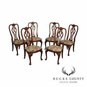 Ethan Allen And03918 Century Mahoganyand039 Collection Set 6 Queen Anne Dining Chairs