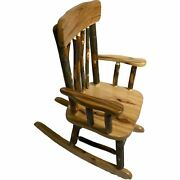 Cedar Handcrafted Rocking Chair Contoured Seat Child 3 To 7 Years Old