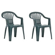Patio Garden Chairs Green Sets Of 2 4 6 Plastic Beach Barbecue Bbq