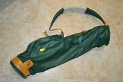 Angc Augusta National Mackenzie Leather Green Golf Carry Bag Masters