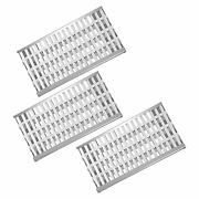 Clivimi 18 5/8 Stainless Steel Grill Heat Plates Shield Flame Tamer Ceramic Rod