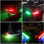 2pcs Universal 12v Marine Waterproof Led Navigation Light Green And Red For Yacht