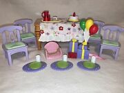 Fisher Price Loving Family Sweet Sounds Birthday Pizza Musical Table Chairs