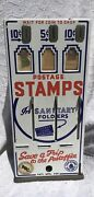 Vintage Us Mail Postage Stamp Coin Machine, 4 Stamps In Display Windows Included