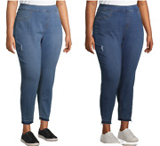New Womens Terra And Sky Stretch Pull On Denim Skinny Jeans Buy More Save