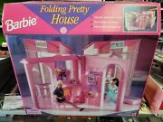 Barbie Pretty Folding House, Flower Garden And Kitchen Set All Mint In The Box