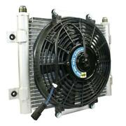 Bd Diesel 1300611 Bd Xtrude Transmission Cooler With Fan -10 Jic Male Connection