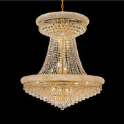 French Empire Pendant Light Large Crystal Chandelier Modern Hanging Lamp