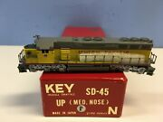N Scale Key Sd-45 Medium Nose Factory Painted Union Pacific Locomotive