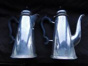 Coffee And Tea Pot, Sterling Slver, Sheffield 1931, Medium Size, Marked