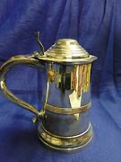 Tankard, Old Sheffield, Circa 1800, Can Shaped, England Antique