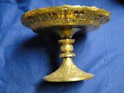 Cake Serving Dish Silver Plated And Gilt 1860 English Chased Engraved Crested