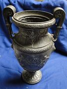 Large Beautifully Cast Vase Great Imagery Sporting Trophy Antique 1860 French