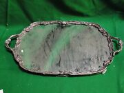 Mirrord Tray, Silver Plated Art Nouveaux, French 1890, Nice Piece, Antique