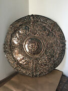 Large Sized Copper Shield Chased And Engraved With The Four Seasons Spectacular