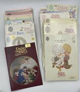 Vtg Lot Of 49 Cross Stitch Booklets Precious Moments Chapel Series - Two By Two