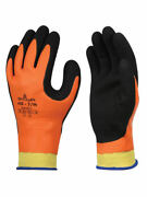 Showa 406 Latex Double Coated Winter Cold Waterproof Grip Safety Glove Orange