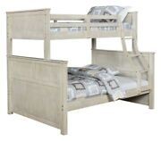 Farmhouse Style Antique White Twin / Full Youth Bunk Bed Bedroom Furniture Set