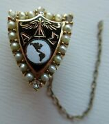 Usa Fraternity Pin Alpha Delta Sigma Phi. Made In Gold. Named. 1227