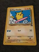 Surfing Pikachu Black Star Promo Card 28 Mint Condition Authentic
