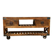 Industrial Farmhouse Buffet Console Storage Cabinet Kitchen Living Room
