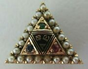 Usa Fraternity Pin Phi Alpha Epsilon. Made In Gold. Rubies. 1354