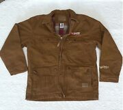 Authentic Tractor Supply Flannel Lined Canvas Duck Jacket/coat - Rare Find