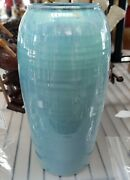 2008 Shearwater Pottery Turquoise Baluster Vase By Peter Wade Anderson