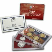 2010-s Us Mint 14 Coin Silver Proof Set Sv3 W/ Coa. Native American Atb Pres