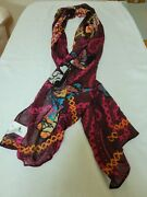 Disney Nwt Mickey Mouse Praying Sequin Trim Scarf Multicolored Size Os