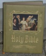 Vintage Heirloom Family Holy Bible King James Version Red Letter Edition