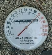 Mueller Milk Coolers Gerald Crouse 15th An Cedarville Il Thermometer Advertising