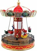Christmas Carousel Animated Pre-lit Musical Carnival Snow Village Decoration