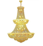 Large Crystal Chandelier Foyer Hanging Lamp French Empire Pendant Light