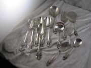 Wallace Grande Baroque Sterling Silver Serving Pcand039s Lot