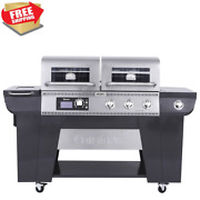 Barbecue Grill Twin Oaks Dual Function Pellet And Propane Gas Grill