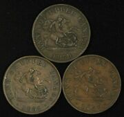 Lot Of 1850,1852 And 1857 Bank Of Upper Canada Half Penny Tokens - Free Ship Us
