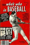 1984 Who's Who In Baseball By Norman Maclean Mint Condition