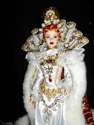 Regal Queen Elizabeth 1 Of England Historical Collector Ooak Barbie Doll By Gg