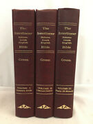 The Interlinear Hebrew Greek English Bible 3 Volumes Hardcover By Jay Green Sr