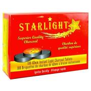 1000 Tablet Starlight 40mm Round Charcoal Disc Hookah Narghile Incense Slow Burn