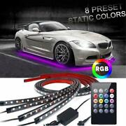 Led Underglow Light Underbody Undercar Kit Rgb Multi-color + Music Sync For F150